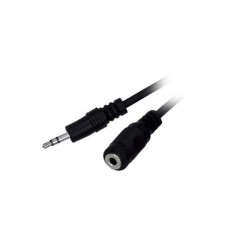5M Stereo 3.5MM Plug To Jack Mf Nickle Flat